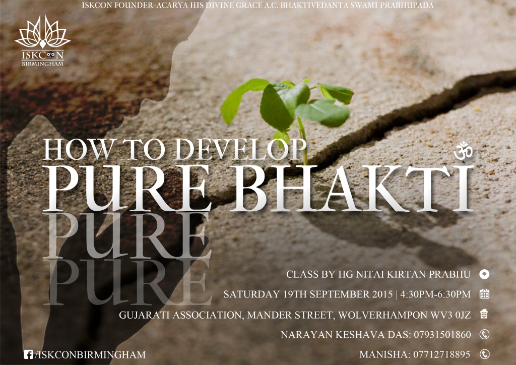 GA - How to develop pure bhakti (1)