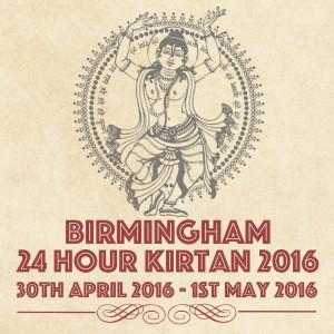 24 Hour Kirtan Draft Poster - 2016